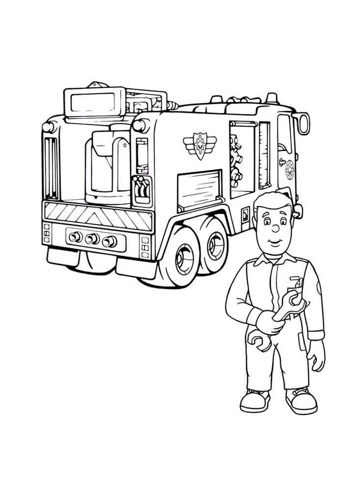 Coloriages camions 24 coloriage de sam le pompier - Coloriage sam le pompier imprimer ...