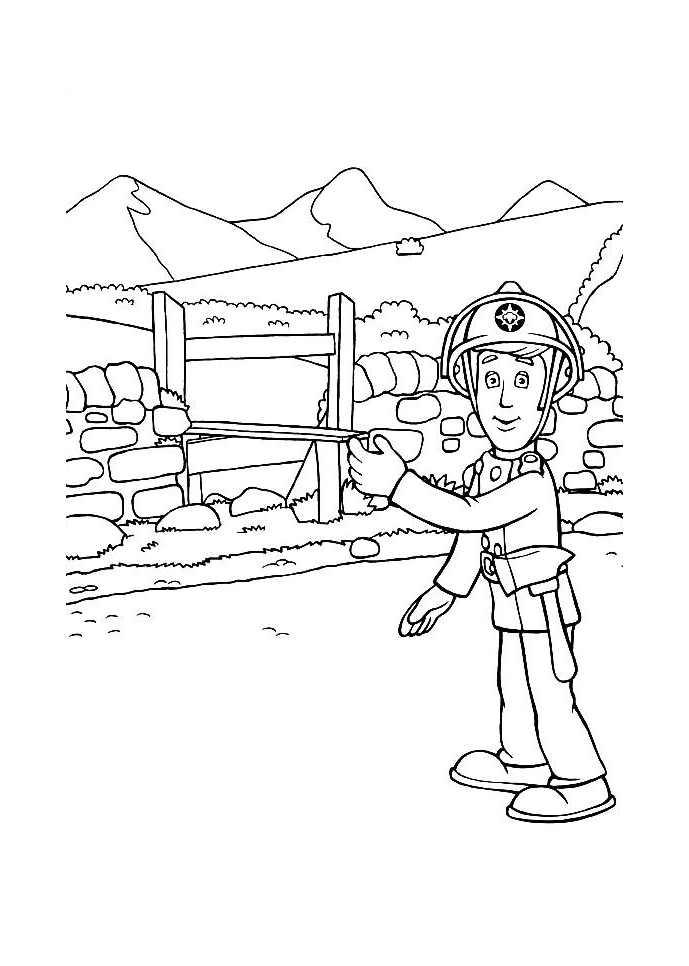 Image de Sam le pompier à télécharger