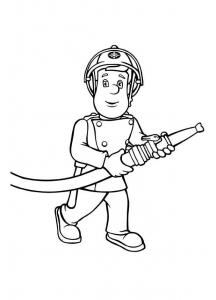 Coloriage sam le pompier 9564
