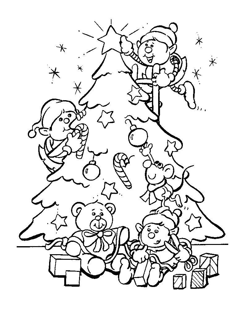 Les lutins du Père noël avec un sapin à colorierA partir de la galerie : Sapin De Noel