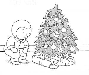 Coloriage de Sapin de Noël à imprimer