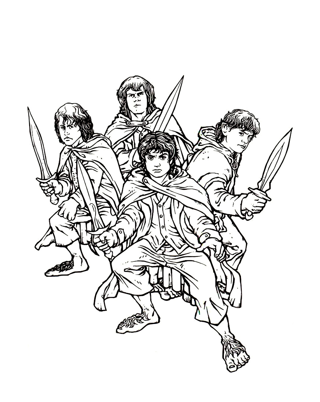 Hobbit House Lord Of The Rings Coloring Pages To Print
