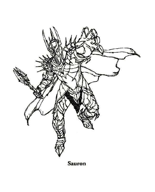 Sauron coloring pages coloring pages - Dessin seigneur des anneaux ...