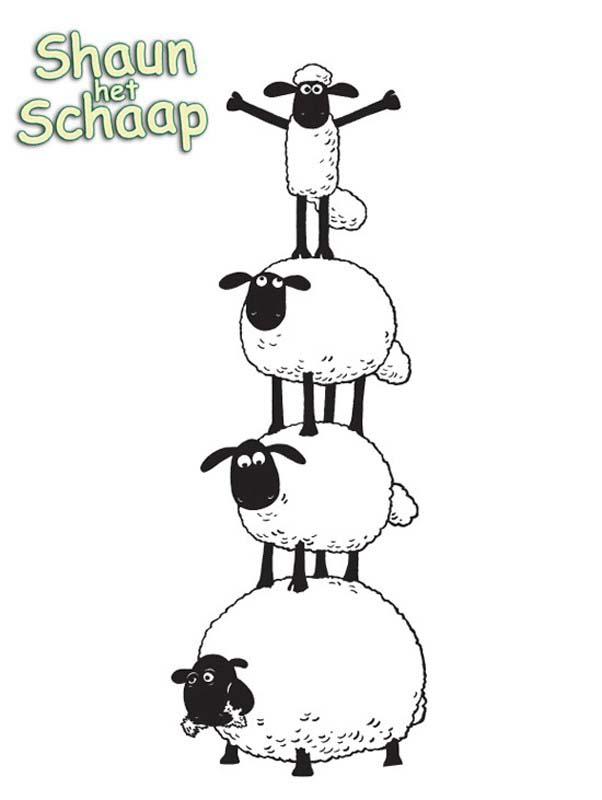 Shaun Le Mouton Amis Coloriage Shaun Le Mouton