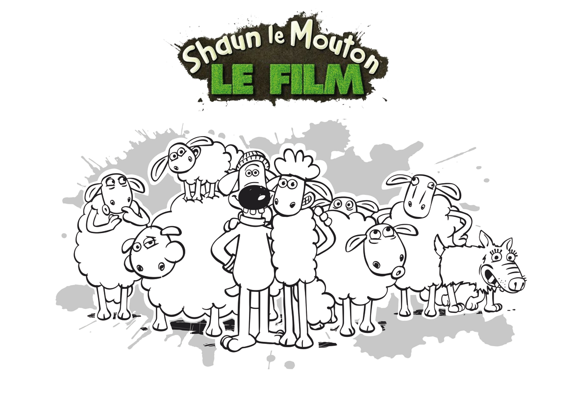 Préparez vos crayons et feutres pour colorier ce coloriage de Shaun le mouton