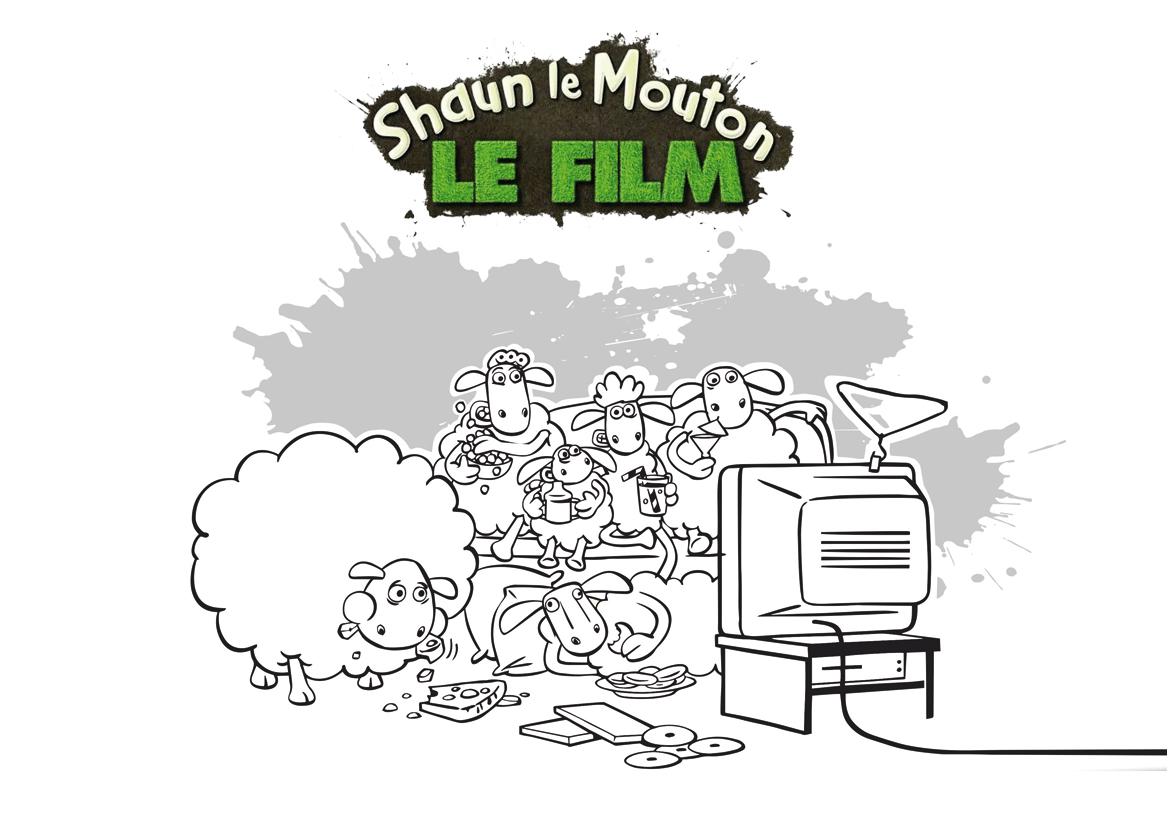Shaun Le Mouton Television Coloriage Shaun Le Mouton Coloriages