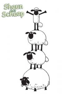Coloriage shaun le mouton amis
