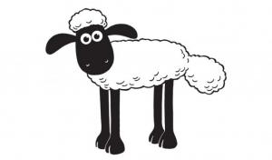 Coloriage shaun le mouton seul