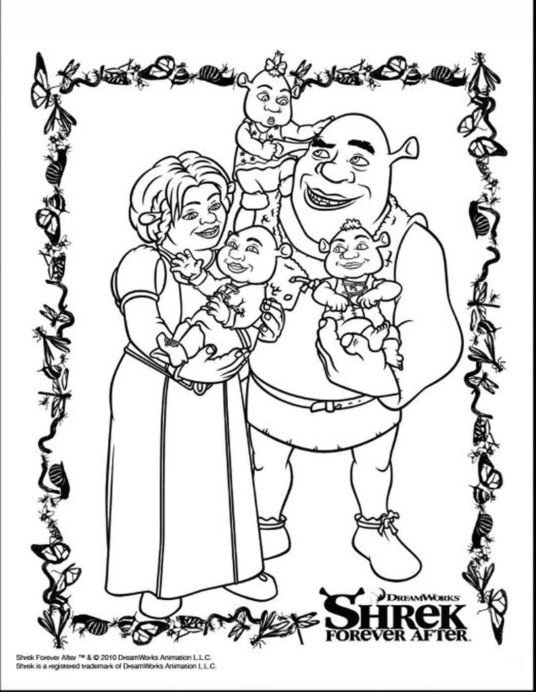 Joli portrait de la famille Shrek