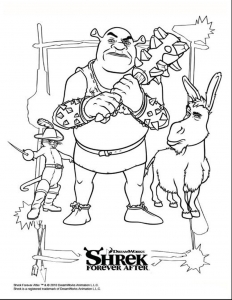 Coloriage shrek 2