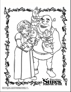 Coloriage shrek 3