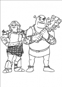 Coloriage shrek 4