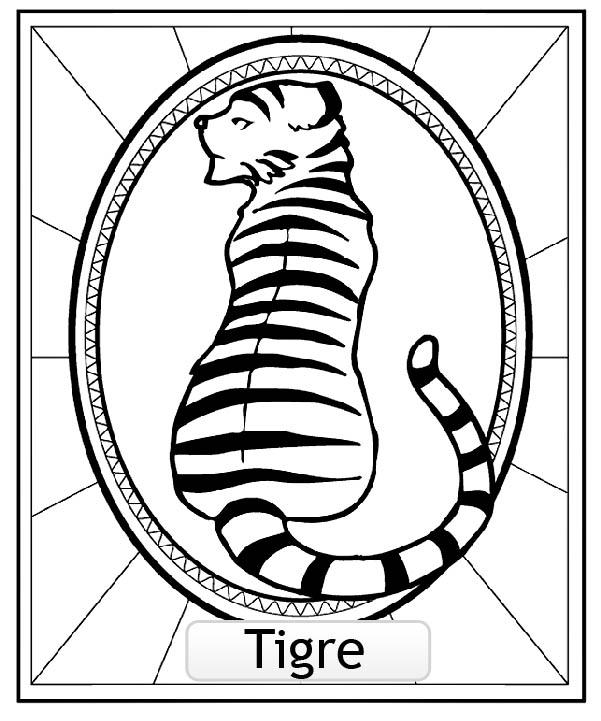 Signe Astrologique Chinois Tigre Copie Coloriage Signes