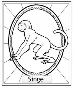 coloriage-signe-astrologique-chinois-singe-copie free to print