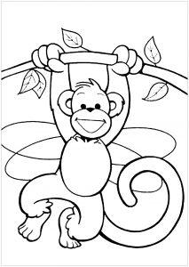 Coloriage de singe à imprimer