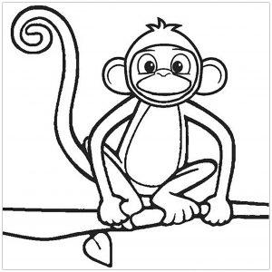 Coloriage de singe à colorier pour enfants