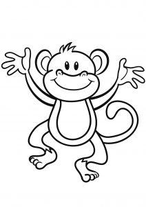 Dessin de singe gratuit à télécharger et colorier