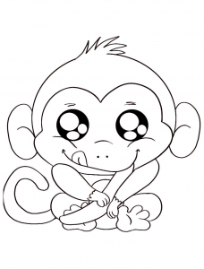 coloriage-singe-2 free to print