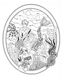 Le jardin de la petite sirene par azyrielle