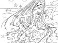 Coloriage de Sirènes à imprimer gratuitement