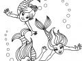 Coloriage de Sirènes gratuit à colorier