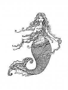 Sirène aux longs cheveux par lian2011