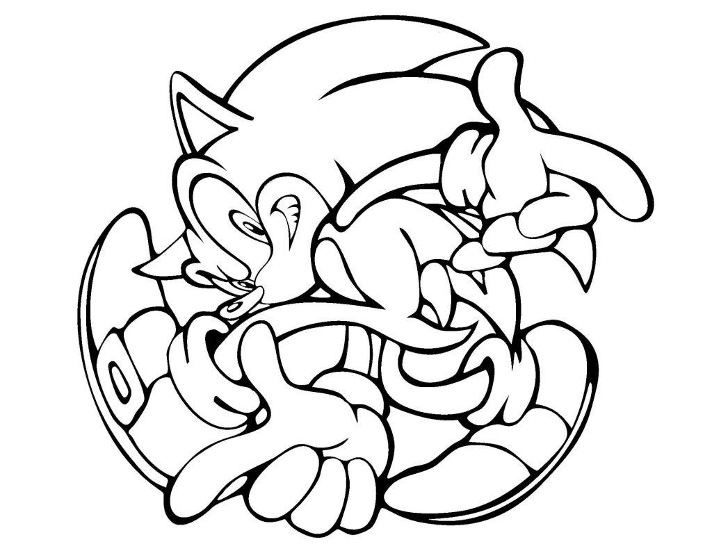 Sonic En Boule Coloriage Sonic Le Herisson Coloriages Pour Enfants