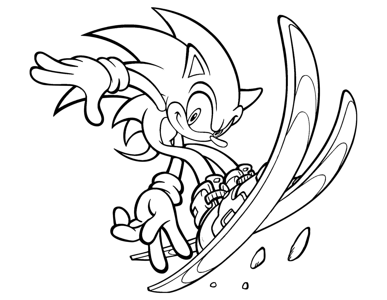 Coloriage amusant de Sonic le hérisson à imprimer et colorier