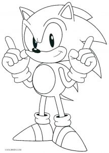 Coloriage simple de Sonic le hérisson