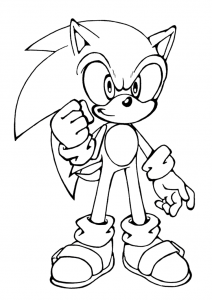 Coloriages sonic 1