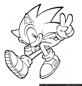 coloriages-sonic-3 free to print