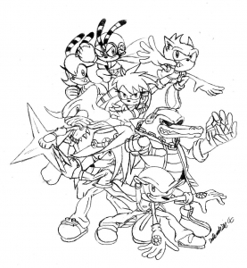 coloriages-sonic-5 free to print
