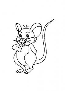 Coloriage de souris coloriages pour enfants - Dessin de petite souris ...