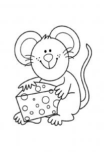 Coloriage de souris gratuit à colorier