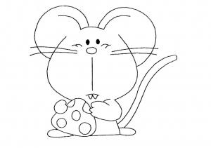Image de souris à télécharger et colorier