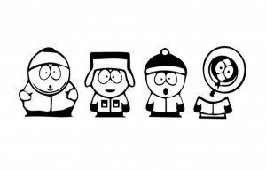 Coloriage de South Park à colorier pour enfants