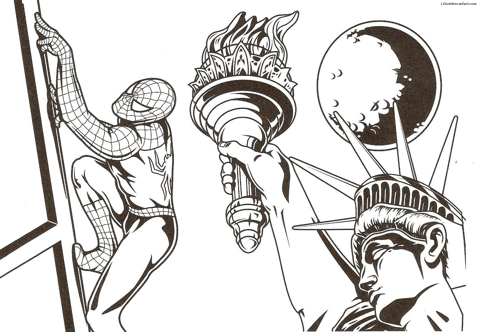 Spiderman 1 - Coloriage Spiderman - Coloriages pour enfants