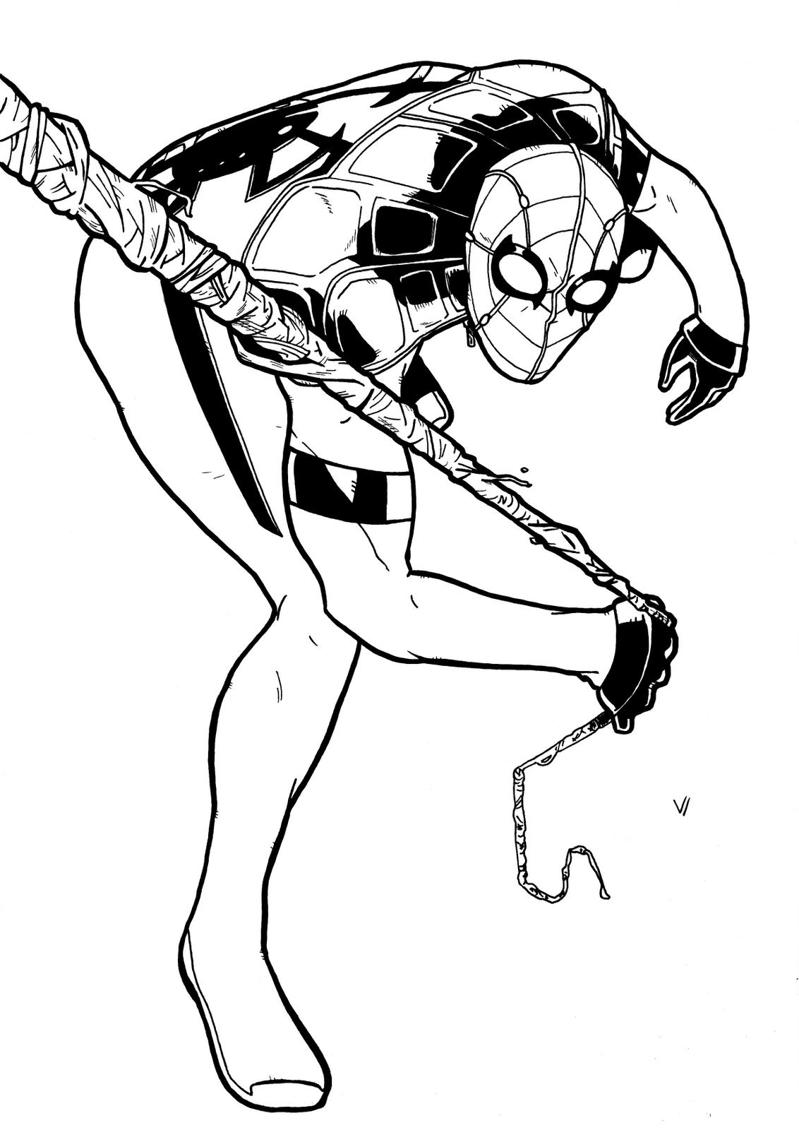 Spiderman 1 coloriage spiderman coloriages pour enfants - Coloriage de spider man ...