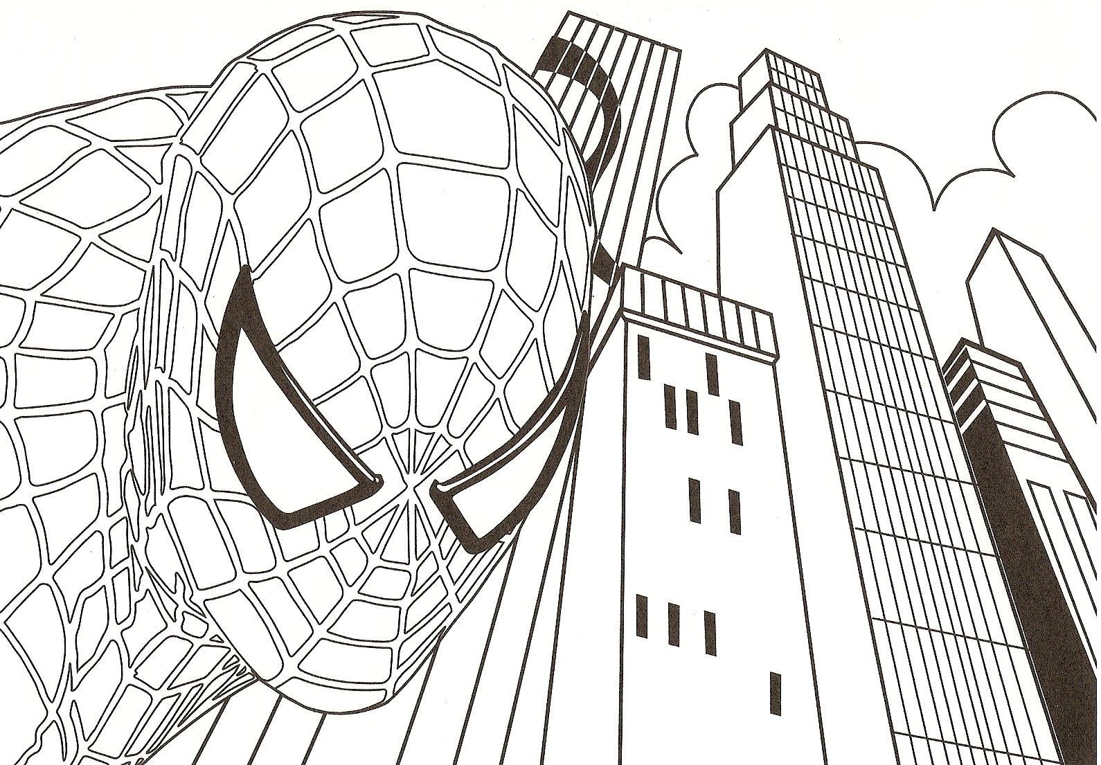 Gros plan sur Spiderman