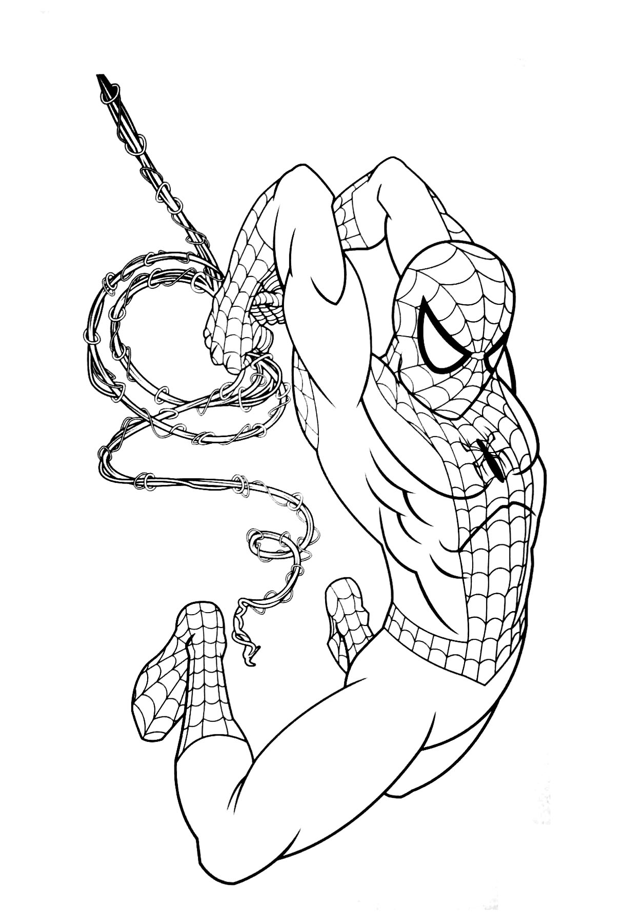 Coloriage De Spiderman Pour Enfants Coloriage Spiderman