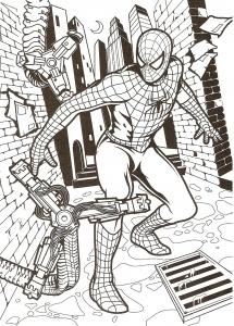 Coloriage de Spiderman pour enfants