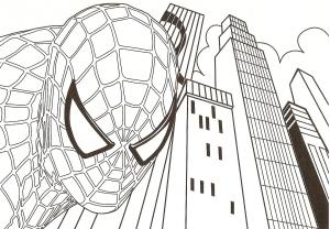 Coloriage de Spiderman à imprimer gratuitement