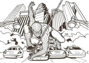 Coloriage de Spiderman à imprimer pour enfants