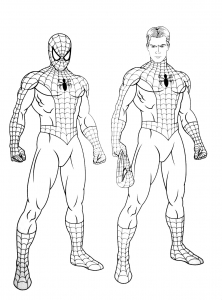Coloriage de Spiderman à colorier pour enfants