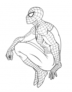 Coloriage de Spiderman à telecharger gratuitement