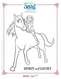 Coloriage de Spirit à imprimer gratuitement