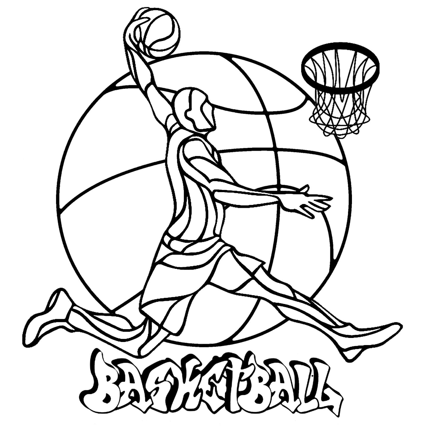 Basketball Coloriage Sports Coloriages Pour Enfants