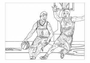 coloriage-sport-basketball free to print
