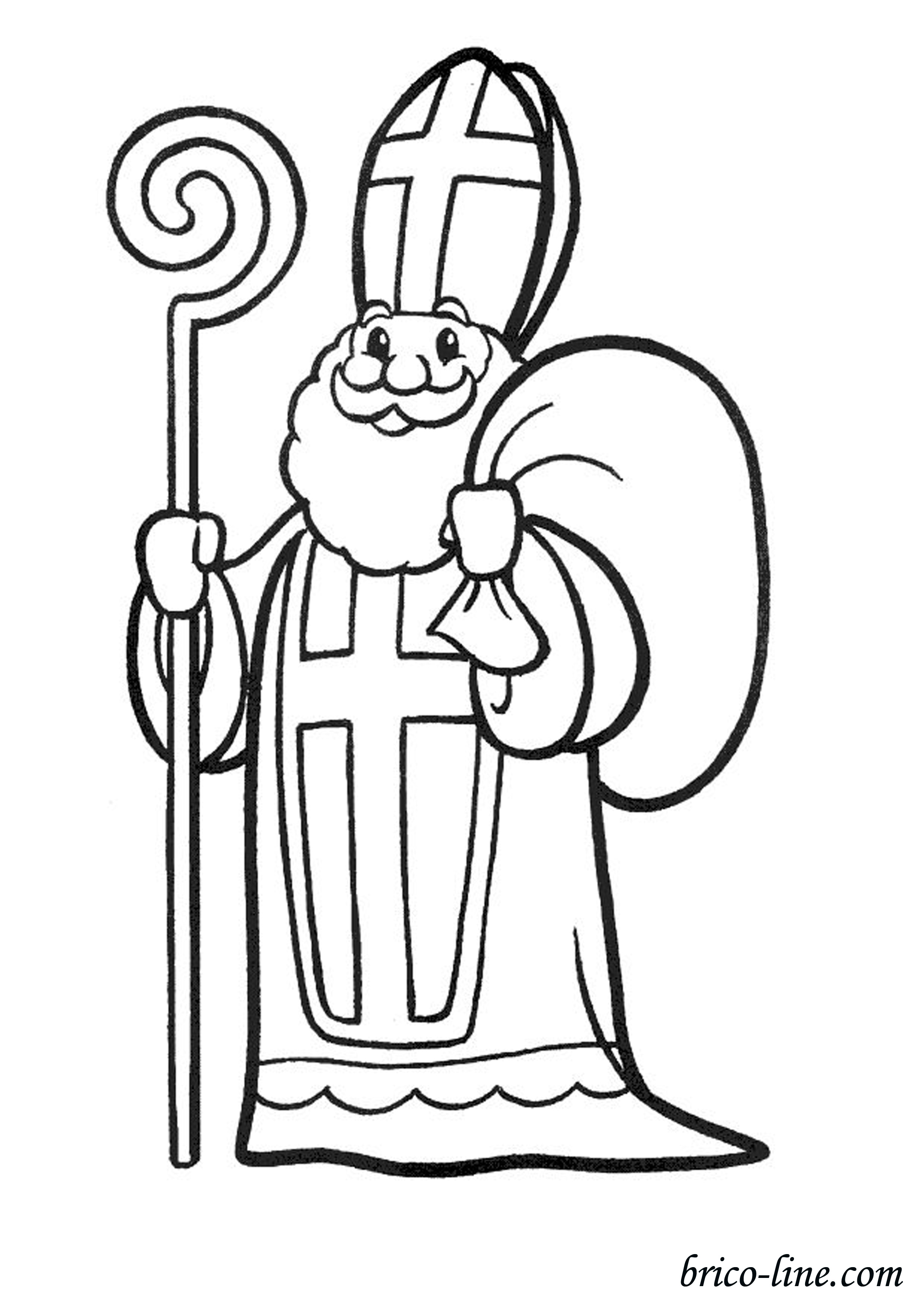 Saint nicolas 1 coloriage saint nicolas coloriages - Dessin de saint ...