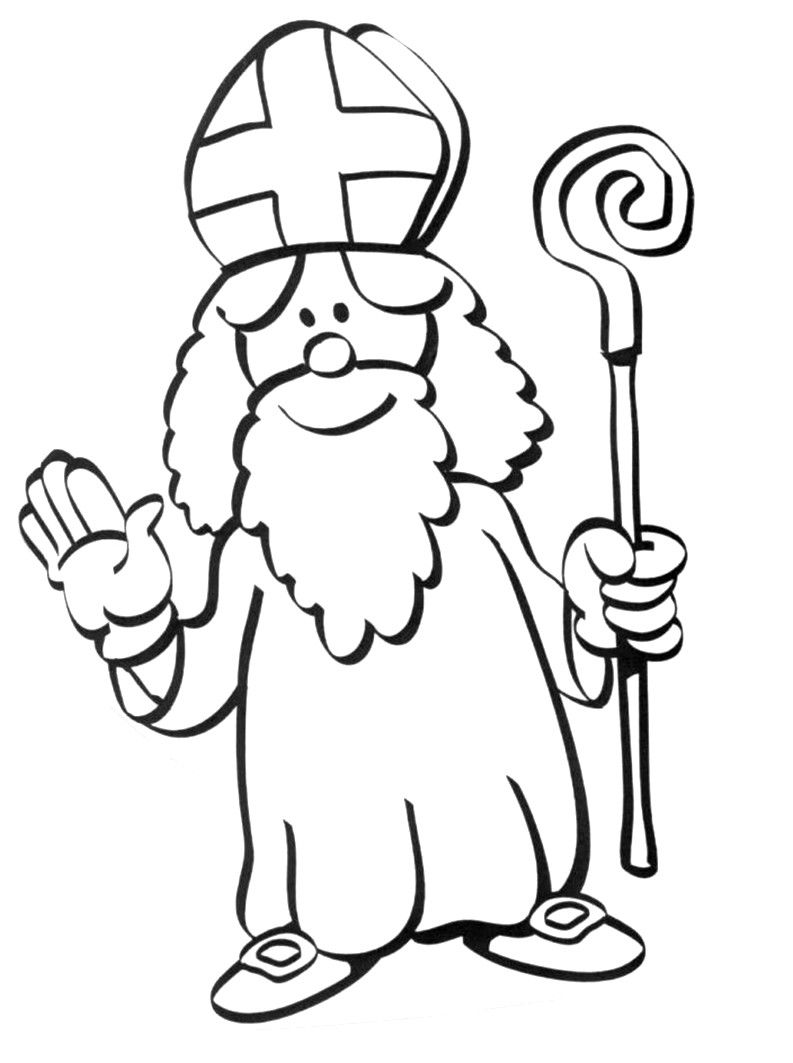 Saint nicolas 6 coloriage saint nicolas coloriages - Dessin de saint ...